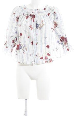 Zara Woman Carmen-Bluse florales Muster Street-Fashion-Look