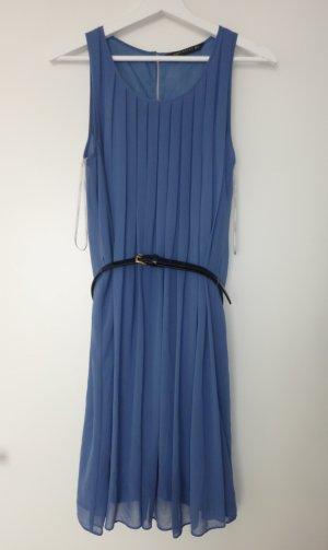 Zara Woman Chiffon Kleid S ASO Kate Middleton Honeymoon dress kornblumenblau