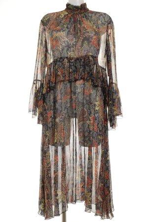 Zara Woman Abito di chiffon motivo astratto Stile anni '70