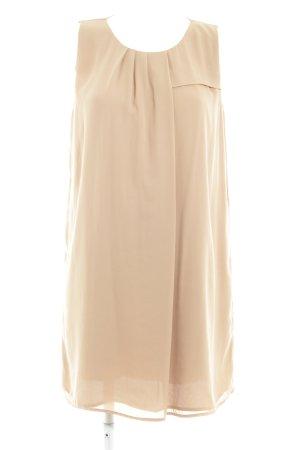 Zara Woman Chiffonkleid bronzefarben Business-Look
