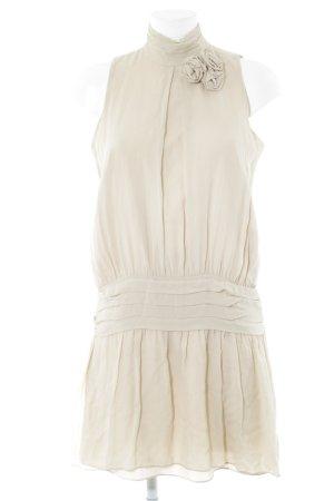 Zara Woman Chiffonkleid creme Elegant