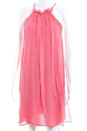 Zara Woman Chiffonkleid hellrot Elegant