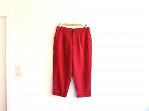 Zara Woman Chino Gr. L 40 gewaschenes rot dunkelrot bordeaux Stoffhose