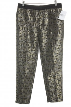 Zara Woman Chinohose grafisches Muster Elegant