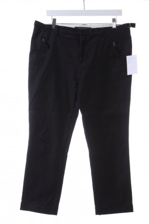 Zara Woman Chinohose schwarz Casual-Look