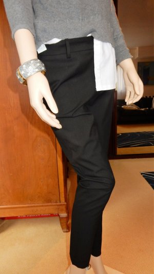 Zara Woman, Cigarette Slim, 7/8-Hose, schwarz, Gr. S
