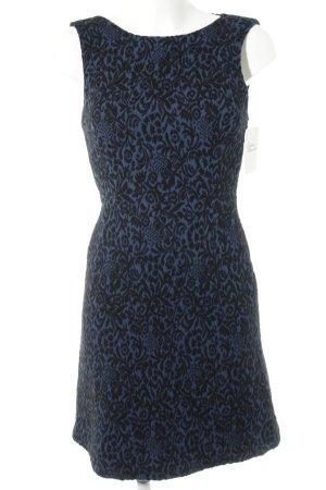 Zara Woman Cocktailkleid schwarz-dunkelblau florales Muster Elegant