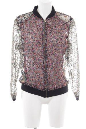 Zara Woman Collegejacke Blumenmuster Casual-Look
