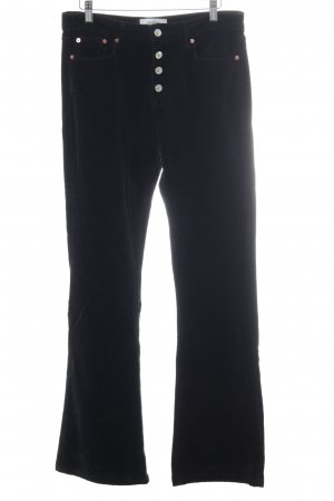 Zara Woman Corduroy Trousers black classic style