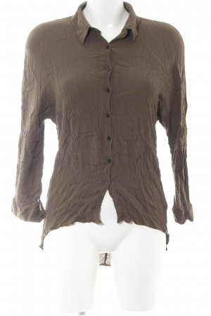 Zara Woman Crash Blouse brown business style