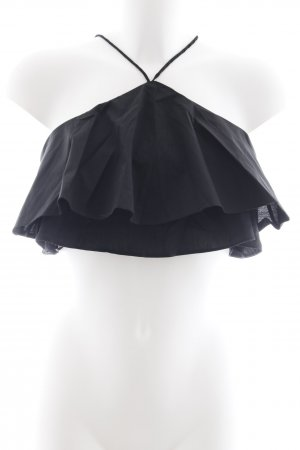 Zara Woman Cropped Top schwarz Casual-Look