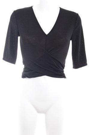 Zara Woman Cropped Top schwarz schlichter Stil