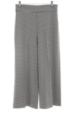 Zara Woman Culottes schwarz-weiß Allover-Druck Business-Look