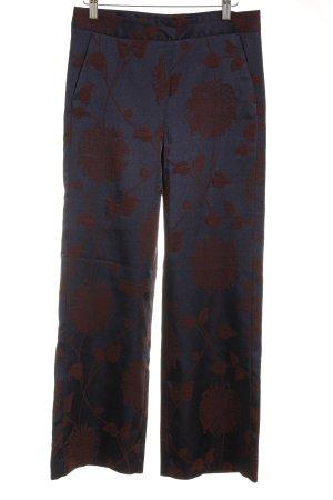 Zara Woman Culottes dunkelblau-cognac florales Muster Elegant