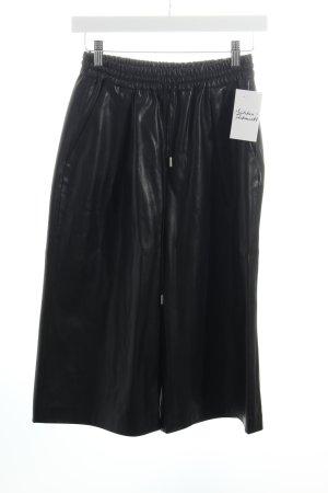 Zara Woman Culottes schwarz Leder-Optik