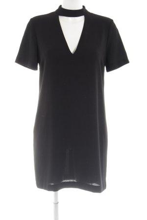 Zara Woman Cut out jurk zwart zakelijke stijl