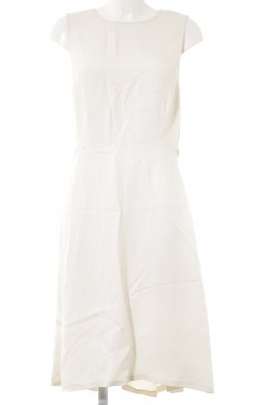 Zara Woman Cut-Out-Kleid creme klassischer Stil