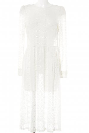 Zara Woman Cut-Out-Kleid hellbeige florales Muster Beach-Look