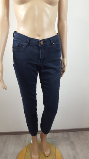 Zara Woman Low Rise Jeans dark blue