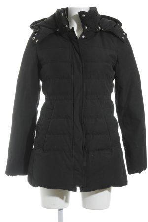 Zara Woman Daunenjacke schwarz Casual-Look