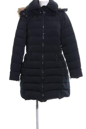 Zara Woman Daunenmantel schwarz Steppmuster Casual-Look