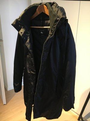 Zara Woman Abrigo de plumón negro