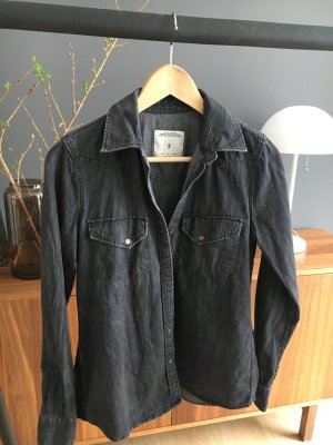 Zara Woman Denim Bluse Shirt graublau wie neu S Premium Denim collection