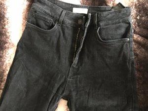 Zara Woman Hoge taille jeans antraciet-zwart