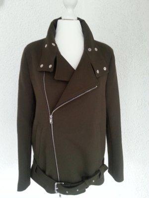 Zara Woman edle Bikerjacke khaki Gr.S/36 wie neu