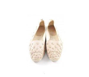 Zara Woman Espadrille Sandals dusky pink-cream