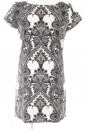 Zara Woman Sheath Dress cream-black floral pattern business style