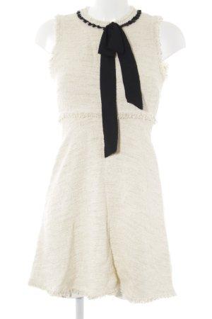 Zara Woman Etuikleid creme-schwarz klassischer Stil