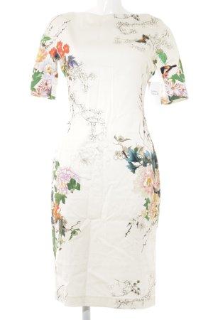Zara Woman Etuikleid florales Muster Elegant