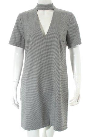 Zara Woman Etuikleid schwarz-weiß Karomuster Casual-Look