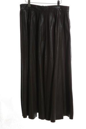 Zara Woman Plooirok zwart casual uitstraling