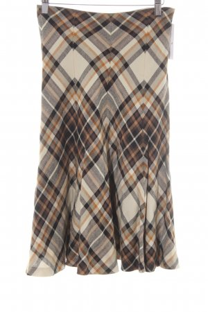 Zara Woman Plooirok geruite print klassieke stijl