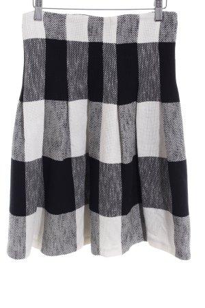 Zara Woman Plaid Skirt black-natural white check pattern Brit look