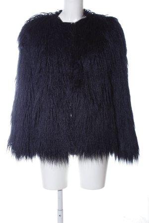 Zara Woman Fur Jacket black extravagant style