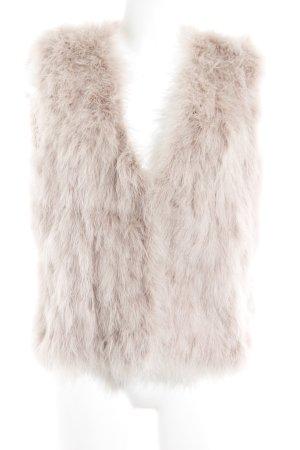 Zara Woman Smanicato di pelliccia rosa pallido stile stravagante