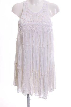 Zara Woman Robe à franges blanc élégant