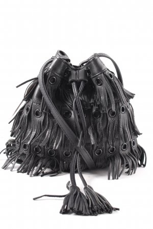 Zara Woman Fransentasche schwarz Boho-Look