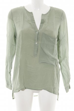 Zara Woman Glanzbluse khaki Casual-Look