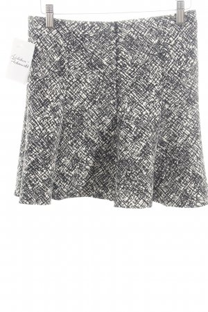Zara Woman Klokrok wit-zwart abstract patroon casual uitstraling