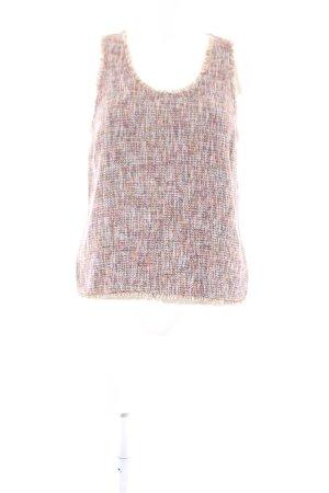 Zara Woman Gehaakte top nude-roze gestippeld casual uitstraling