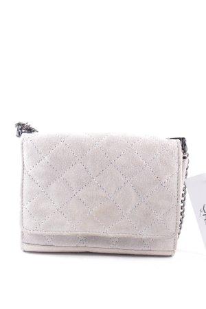 Zara Woman Handtasche hellgrau-dunkelgrau Steppmuster Street-Fashion-Look