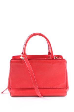 Zara Woman Handtasche rot-goldfarben Business-Look