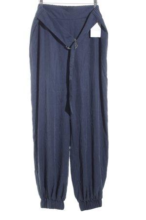 Zara Woman Haremshose dunkelblau Street-Fashion-Look