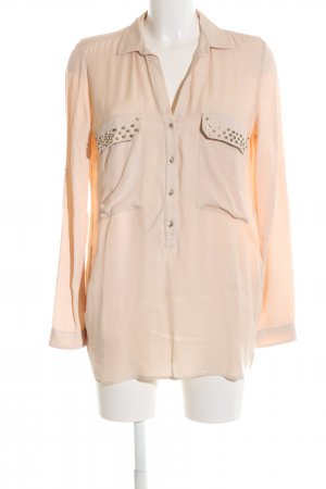 Zara Woman Hemd-Bluse nude Business-Look