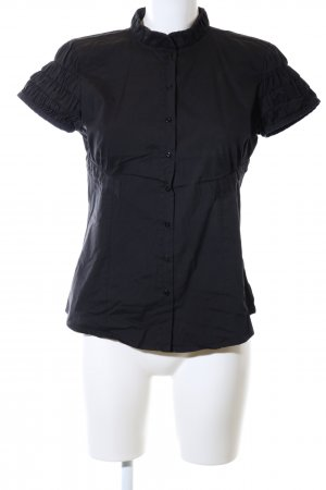 Zara Woman Hemd-Bluse schwarz Business-Look