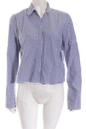 Zara Woman Hemd-Bluse blau-weiß Streifenmuster Business-Look